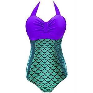Little Mermaid Plus Size One Piece Bathing Suit XL